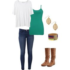 A fashion look from September 2012 featuring Hope t-shirts, BKE tops and J Brand jeans. Browse and shop related looks.