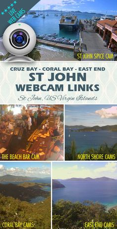 A collection of webcams from across the island of St John, US Virgin Islands