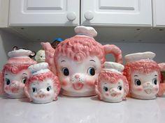 Lefton poodle tea set by Squeaks., via Flickr