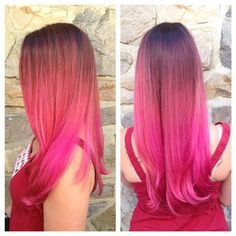 Not a fan of ombre, but I love the pink.