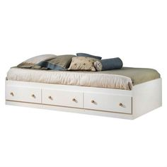designed for functional purposes this twin size white wood platform bed daybed with storage drawers
