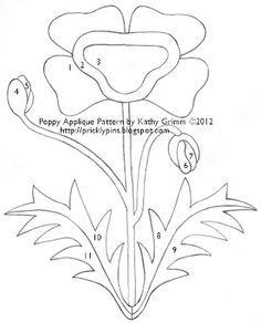 Poppy Applique pattern