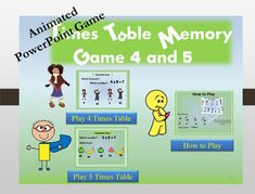 Times Table Challenge/ PowerPoint/ Memory Game/ Times Table Animated/ Power Point /Multiplication Game Interactive Presentation For - Paper Games Multiplication Games For Kids, Fun Math Games, Fun Board Games, Math Activities, Online Powerpoint, Powerpoint Games, Paper Games For Kids, Math For Kids, Star Citizen
