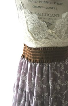 Gypsy cowgirl slip dress, autumn country chic sundress , rustic farm girl,  womens clothing, cottage, romantic. $72.00, via Etsy.