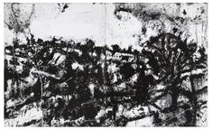 Painter John Virtue's monochromatic world at Fortnum & Mason - Lux Magazine White Acrylic Paint, White Acrylics, Lux Magazine, Fortnum And Mason, Wind And Rain, Gouache, Art History, Ink, Artist