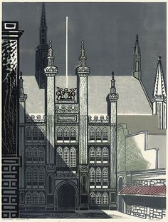 Edward Bawden: The Guildhall from Nine London Monuments, 1960.