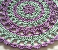 Mandala Style Island Rug in Hoooked Ribbon XL Solids. Discover more Patterns by Hoooked at LoveKnitting. We stock patterns, yarn, needles and books from all of your favorite brands.