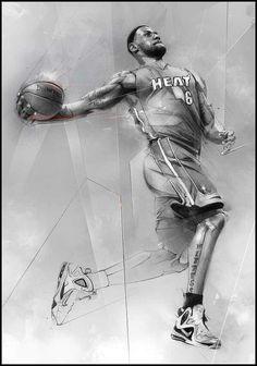 LeBron sketch drawing