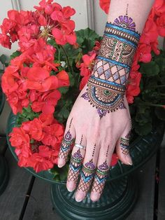 Image detail for -Henna With Colors Mehndi Design Beautiful Colour Henna Designs Latest ...