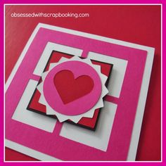 [Video]CTMH Close to My Heart Artbooking Cricut Window Valentine's Card