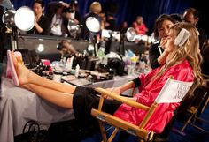 The backstage pics are almost as glam as the runway photos!
