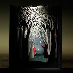 diorama ideas Yes! Finally found out these are called Tunnel Books. Had one as a kid and loved it. Really need to explore making my own. Kirigami, Book Art, Tunnel Book, Shadow Box Art, Book Sculpture, Handmade Books, Handmade Journals, Handmade Crafts, Handmade Rugs