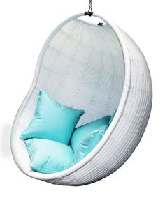 Cove Swing Chair in White - for summer break book reading. This is IT!