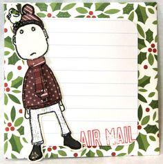 Andrine og Marens Landhandleri - Blog: Gavesett - Julehilsen. Stamp from MagicMonday + Absurdgalleriet - Kjells Vinter.