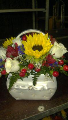 A flower girl's basket  Hand made at America's Florist!  americasflorist.com