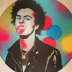 Sid Vicious Record Art Made To Order by tigerbee on Etsy