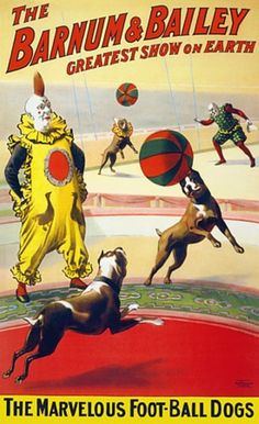 Vintage circus and sideshow posters