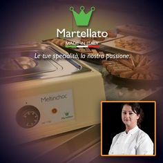 """EVEN THE CHAMPIONS CHOOSE MARTELLATO Functionality, performances and compactness are the main strengths of our MeltinChocs, the chocolate melters which make the work of many experts easier, among them is Sonia Balacchi. After having been crowned Pastry Queen at Sigep, she became the first winner of the Women Pastry World Championship. We thank the artist for her confidence in our company and we wish her a lot of """"sweet"""" success."""