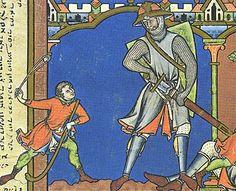 David and Goliath (Maciejowski Bible). #miniature