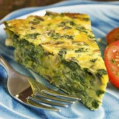 Crustless Spinach, Onion and Feta Quiche Recipe - I can't wait to try.I don't like the crust on a normal quiche Vegetarian Recipes, Cooking Recipes, Healthy Recipes, Easy Recipes, Popular Recipes, Delicious Recipes, Amazing Recipes, Cooking Time, Healthy Meals