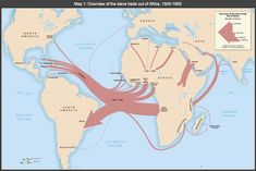 Forced Diaspora: A map shows the main transatlantic routes out of Africa during the slave trade from This is how African slaves were trafficked around the world. Out Of Africa, West Africa, Middle Passage, North Asia, By Any Means Necessary, Black History Facts, African Diaspora, World History, Family History