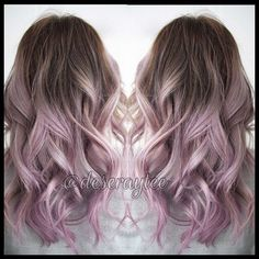 65 Ombre Hair Colors for Blond, Brown, Carmel, Red and Blue Hair - Hair & Beauty - Lilac Hair Hair Lights, Rose Hair Color, Gold Hair, Hair Hacks, Cool Hairstyles, African Hairstyles, Formal Hairstyles, Black Hairstyles, Hair Beauty