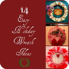 DIY Wreath Ideas for the holidays! Christmas Decor Ideas Christmas Home
