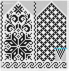 Bilderesultat for strikke diagram Knitted Mittens Pattern, Knit Mittens, Knitted Gloves, Knitting Socks, Knitting Charts, Knitting Stitches, Knitting Patterns Free, Wedding Cross Stitch Patterns, Cross Stitch Designs