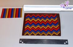 How to make bargello. In Spanish with excellent pictures. #Polymer #Clay #Tutorials