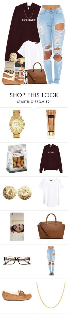 """""""90's Baby - No. 603"""" by dessboo ❤ liked on Polyvore featuring Michael Kors, Victoria's Secret, Givenchy, H&M, Case-Mate, MICHAEL Michael Kors, ZeroUV, UGG and Sterling Essentials"""