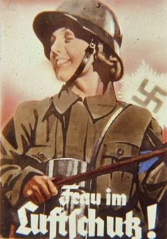 Air Protection Warning Service - a WWII Nazi propaganda poster inviting women to join the Luftschutzwarndienst (LuftSchutz/LS) Air Protection Warning Service was a civilian volunteer organization, whose purpose it was to alert the population of impending air raid attacks during WWII.