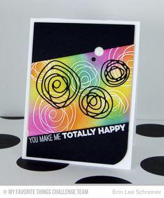 Circle Scribble Flowers, Scribbles Die-namics, Totally Happy - Erin Lee Shreiner  #mftstamps