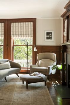 Painted Wainscoting With Wood Trim victorian wainscoting living rooms.Wainscoting Stairs Home. Wood Wainscoting, Dining Room Wainscoting, Wainscoting Styles, Wainscoting Height, Wainscoting Nursery, Natural Wood Trim, Dark Wood Trim, Living Room Remodel, Living Room Paint