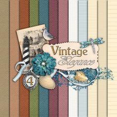 Vintage Elegance Paper Set 4 - Digital Scrapbooking