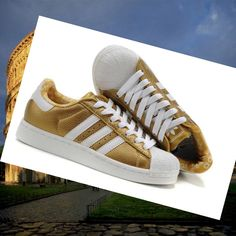 san francisco c67bd 2d6fd Adidas Superstar 2 Men Running Shoe Leather, white gold HOT SALE! HOT PRICE!