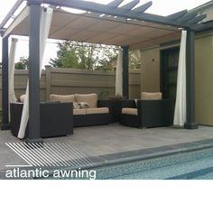 This residential pergola awning is great in the summer when searching for that area of shade by the pool!
