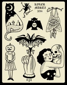 Kyler Martz tattoo flash