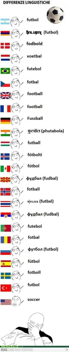 I love USA but this is the only place that calls futebol (football) something else and call something else football (and play with the hands)