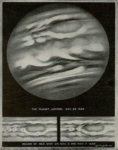 The planet Jupiter, Oct - Nov 1928