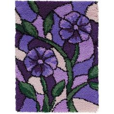 Mary Maxim - Stained Glass Latch Hook Rug Kit