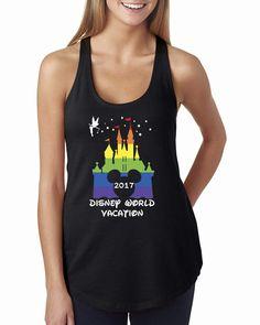 Rainbow Castle Tanks,Disney Vacation Shirt tank top,Disney Trip Tshirt,Disney Shirt,Pride,Rainbow Castle,Pride Shirt