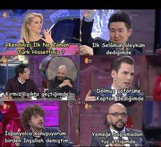 #türkiye #japon #çin #ingiliz #ispanyol #türkiye #türk #milliyetci #burcuesmersoy #asker #vatan Comedy Pictures, Funny Pictures, Comedy Zone, Good Sentences, Cartoon Memes, Read News, Funny Comics, Funny Moments, Cool Words