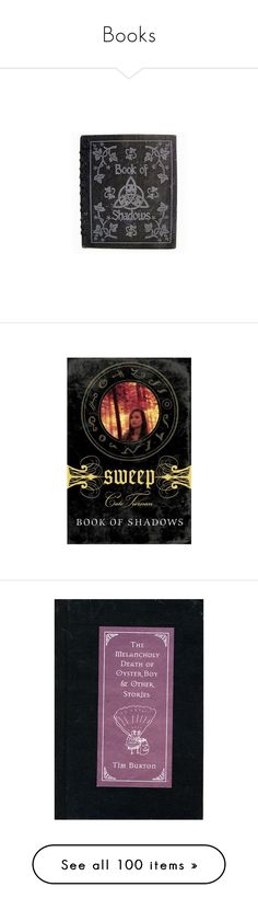 """""""Books"""" by morbid-octobur ❤ liked on Polyvore featuring vampire, magic, witch, witchcraft, occult, books, fillers, backgrounds, harry potter and other"""