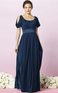 Short Sleeves Zipper Scoop Floor-length Chiffon Formal Dresses b140489