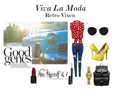 Retro Vixen by jazmine-sands on Polyvore featuring Steve Madden, ASOS, Komono, Una-Home and MAC Cosmetics