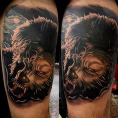 """""""Created this wolfman today @good_neighbor_tattoo thanks Benny for letting me do this on you bro had a good time thanks. And thank to everyone for viewing. #tattoo#tattoos#cool#cooltattoos#wolfman#wolfmantattoos#thewolfman#stencilstuff#inkfreakz#richardsanchez#richardsancheztattoos#tolleson#az#arizonatattoos#portrait#portraittattoos#realistictattoos#wolf#lovetattoos"""" Photo taken by @richardsancheztattoo on Instagram, pinned via the InstaPin iOS App! http://www.instapinapp.com (10/11/2014)"""
