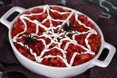 Spider Web Dip | 27 Appetizers For Your Halloween Party That Are Hilariously On Theme