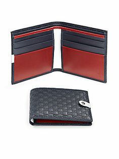Gucci Microguccissima Leather Bifold Wallet Men Accesories, Leather Accessories, Best Wallet, Gucci Wallet, Mens Style Guide, Minimalist Wallet, Leather Bags Handmade, Leather Bifold Wallet, Leather Design
