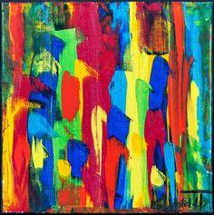 NEW PAINTING !  Mini Abstracts XXIII  30x30 cm  My website:   #art #paintings #artbylonfeldt