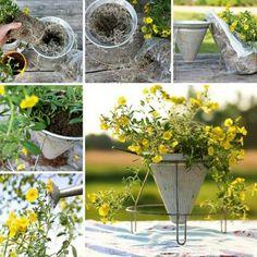 homemade garden scultures | ... Backyard Ideas Turning Metal Wire into Beautiful Garden Decorations